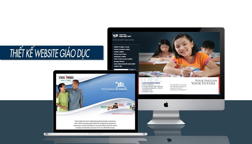 thiết kế web giáo dục