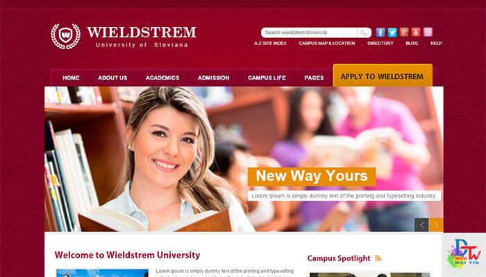 thiết kế web giáo dục - đào tạo