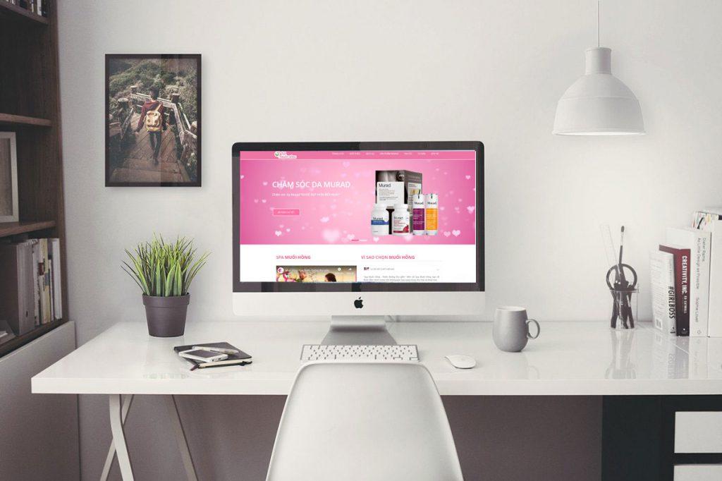 thiết kế web spa - thẩm mỹ viện