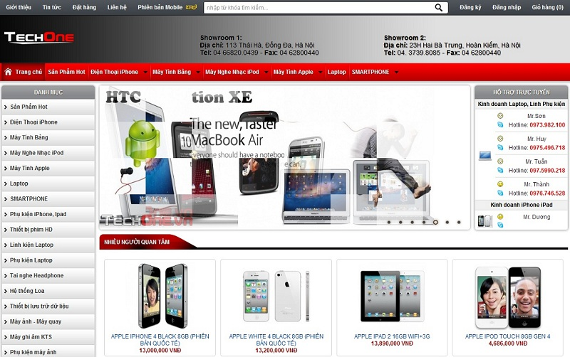 thiết kế web điện tử - điện lạnh