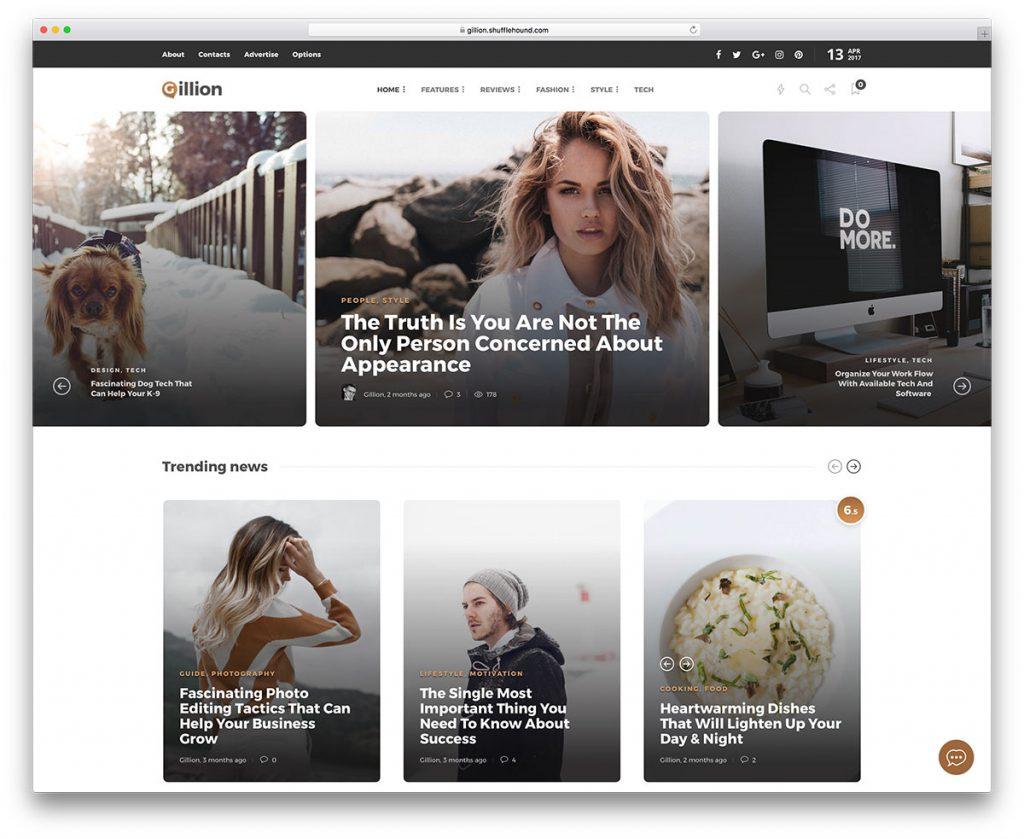 thiết kế web trời trang - may mặc
