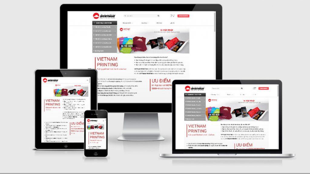 thiết kế website in ấn - quảng cáo